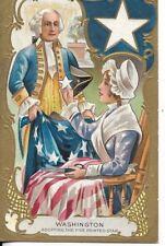Washington's birthday postcard washington adopting the five point star early1900