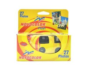 Novocolor single use disposable camera with Flash **Fast Delivery**