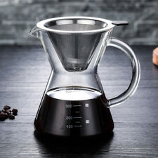 14 ounces Pour Over Coffee Manual Drip Coffee Maker Stainless Steel Filter 400ml