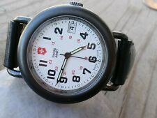Swiss  Watch Day indicator White Dial working condition