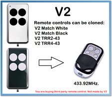 V2 Match White, Match Black Remote Control Duplicator 4-Channel 433.92MHz.