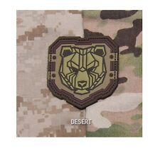 PVC Patch - Milspec Monkey MSM - INDUSTRIAL BEAR - Morale - DESERT Tan