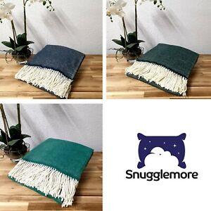 Luxury Lambswool Throw Burley Tweed Design Various Colours Ideal Gift