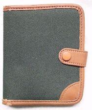 Wallet Vintage Leather NOTEPAD HOLDER 1980s 1990s TAN BROWN DARK GREEN
