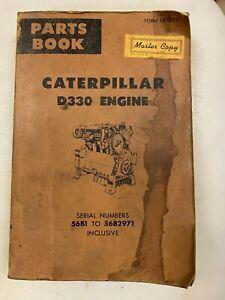 Caterpillar D330 Engine parts manual. Genuine Cat book.