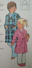 Vintage Silver Needles Child's Dressing Gown Robe Sewing Pattern #19 Age 3-7