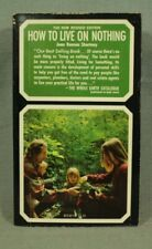 How to Live on Nothing  vintage hippie natural living paperback book