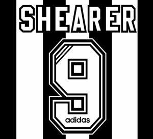 Shearer #9 1995-1997 Home  Football Nameset for shirt