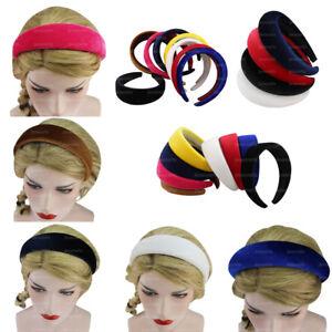 Lady Girls Padded Velvet Sponge Headband Multi-color Hairband Hair Decor Gifts