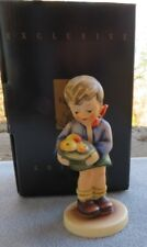 Hummel Figurine Gift from a Friend (#198/Hum 485) Boy with Apples Mint in Box