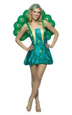 Womens Peacock Bird Novelty Funny Fancy Dress Costume