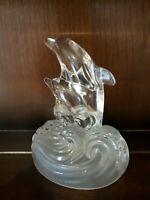 Glass Crystall Vintage Dolphin Figurine