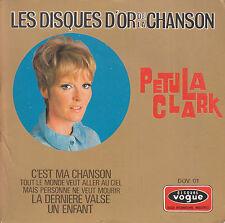 "7"" FRENCH EP 45 TOURS PETULA CLARK ""C'est Ma Chanson +3"" 1968 DISQUES D'OR"