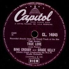 "BING CROSBY & GRACE KELLY ""High Society""   True Love   SOUNDTRACK   78rpm S9841"