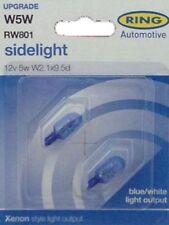 2 x RING 501 CAPLESS XENON STYLE BLUE ICE CAR SIDE LIGHT BULB 12v 5w W5W