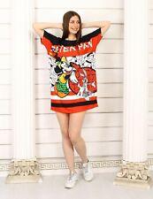 Oversize Blogger Kleid Tunika Long Shirt Pop Art Comic Print 38 40 42 NEU K150