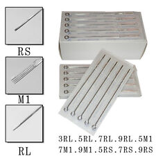 50x  Mix Size 3 5 7 9 RL 5 7 9 RS 5 7 9 M1 Sterile Disposable Tattoo Needles #E3