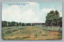 Interurban Railroad Trolley Train Tracks FORT WORTH—DALLAS Antique 1916