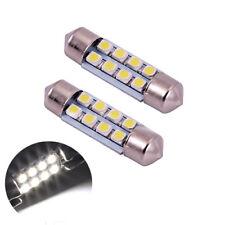 2 ampoules à LED navettes 36 mm 8 LED plafonnier C5W  blanc 6000k