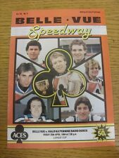20/04/1984 Speedway Programme: Belle Vue v Halifax [League Cup] (results tables