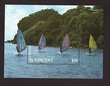 St Vincent--#1099 MNH Souvenir Sheet--1988 Windsurfing