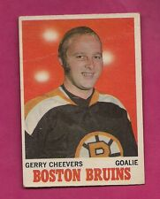 1970-71 OPC # 1 BRUINS GERRY CHEEVERS GOALIE CREASED CARD  (INV#3815)