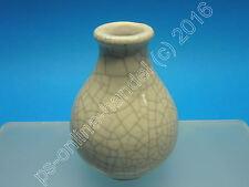 Jarrón de pequeñas krakelee cerámica-glaseado 8,5 cm de alto 50er 60er (KLR)