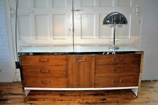 Milo Baughman Rosewood and White Lacquer MCM Dresser Credenza Media Stand