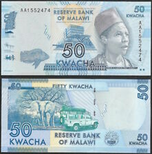 MALAWI - 50 kwacha 2012 P# 58 UNC Africa banknote - Edelweiss Coins