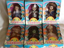 Vintage 1993 The Wizard Of Oz Collector's Edition Dolls Toddlers 6 Pc Set NIB