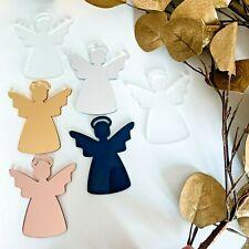 Christmas Angel Tree Decorations, Blank Acrylic, Clear Blanks, 3mm Acrylic