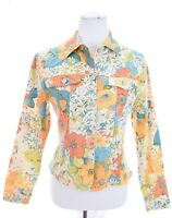 Norm Thompson Colorful Floral Jacket Stretch Print Denim Style USA Womens Sz S