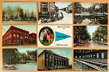 9 Postcards ALL Jackson MI Prison Dining Room Main Street Main Street YMCA 1907