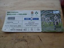 Ticket England v Ireland 6 Nations Feb 27th 2010