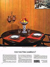 PUBLICITE  1969   ISOREL   revetement mural