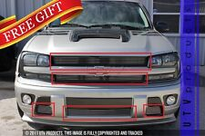 GTG 2002 - 2005 Chevy Trailblazer 5PC Polished Overlay Combo Billet Grille Kit