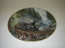 Collector PLATE Christian Bell Porcelain Age of Steam Timber Country Ted Xaras