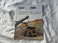 CAT Caterpillar 789 truck brochure