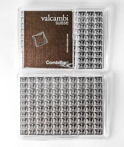 Valcambi Suisse Combibar 100 x1 gram 999 Fine Silver Bar Mint Sealed Certified.