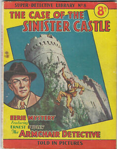 """Dated 1953. Super Detective Library Picture Comic #8. """"Sinister Castle Case"""""""