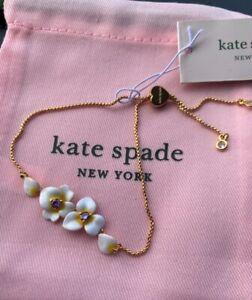 Kate Spade New York Precious Pansy Slider Bracelet