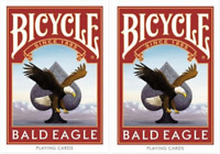 2 Decks of Bicycle Bald Eagle Playing Cards - Limited Edition! - USPCC