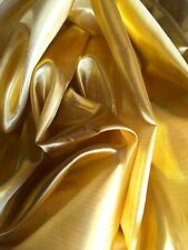 Metallic Shiny Gold Silver Premium Lame Fabric 14 Colours - 150cm Sold Per Metre