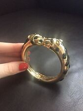 Vintage Gold Tone Panther Bangle