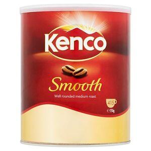 KENCO SMOOTH MEDIUM ROAST COFFEE  INSTANTI 750 gram TIN 415 CUPS