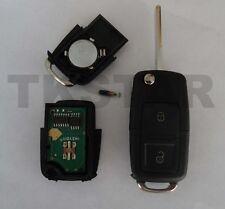433Mhz Auto Schlüssel 2-Tasten Fernbedienung für VW ID48 Transponder 1j0959753 N