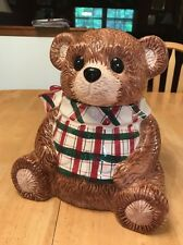 Ceramic Teddy Bear Cookie Jar