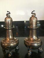 Stunning American Sterling Footed Salt & Pepper Shaker Set Circa 1920, MB139