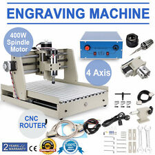 4 AXIS Gravure CNC Router Engraver Engraving Milling Drilling Cutting Machine
