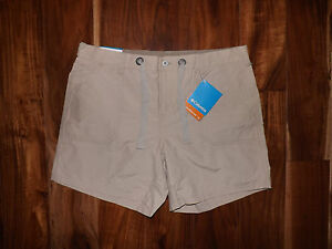 NWT Womens Columbia UV Sun Protection Arch Cape Khaki Shorts S Small M Medium